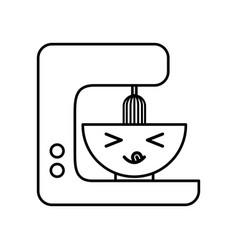 Kawaii kitchen mixer cartoon vector