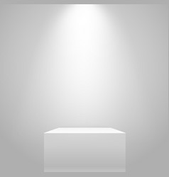 white illuminated stand on the wall mockup vector image