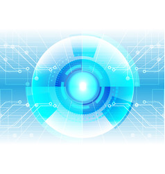 abstract technology circle with circuit background vector image