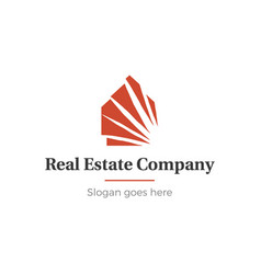 home and real estate logo vector image