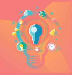 ideas and creative concepts vector image