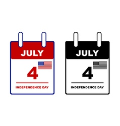 Independence day calendar vector image vector image