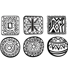 African ornament vector image