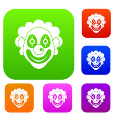 clown set collection vector image vector image