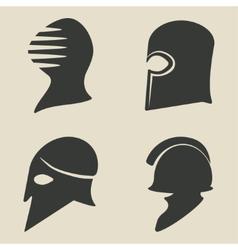 helmet icon set vector image