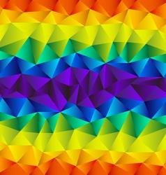 triangular rainbow background vector image vector image