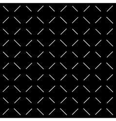 White Dash Black Background vector image vector image
