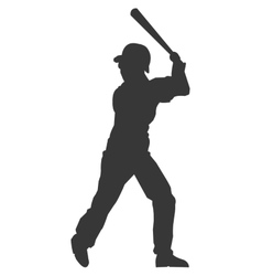 baseball player silhouette icon vector image
