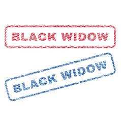 black widow textile stamps vector image