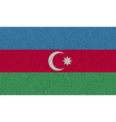 Flags Azerbaijan on denim texture vector image vector image