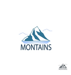 Flat Mountain Logo of Travel Icons vector image vector image