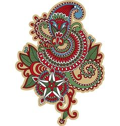 hand draw ornate flower tattoo design vector image vector image