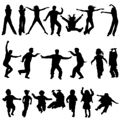 people in action vector image
