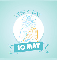 10 may vesak day vector image