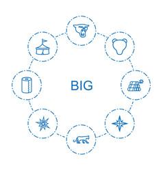 8 big icons vector