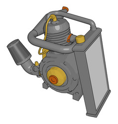 A engine pump operated by machine or electrical vector
