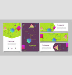 Abstract polygonal design banners and vector
