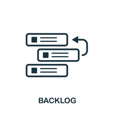 backlog icon symbol creative sign from agile vector image