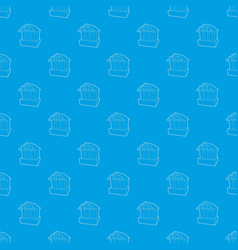 bank pattern seamless blue vector image