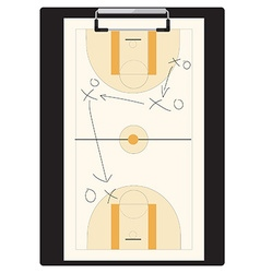 Basketball tactic vector