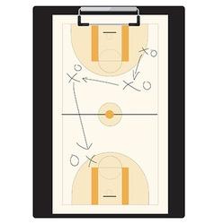Basketball tactic vector image