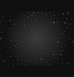 black abstract circle dots dark space background vector image