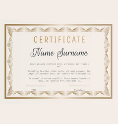 Certificate of appreciation template with vector