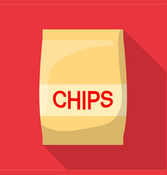 chip icon flat style vector image