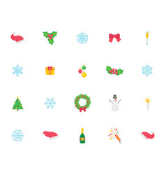 christmas symbol and icons traditional items vector image