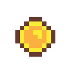 coin in pixel form object vector image