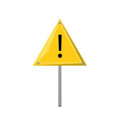 colorful warning signal vector image
