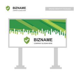 Company bill board design with sheild logo vector