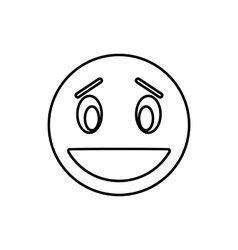 Confused emoticon icon outline style vector