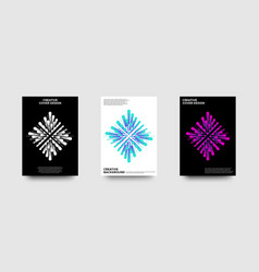 creative minimal cover design vector image
