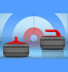 Curling stones equipment background vector