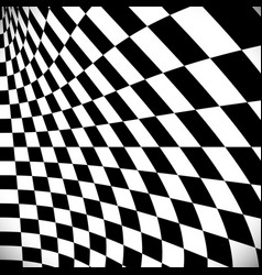 Distorted checkered surface vector