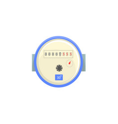 Domestic water meter household measuring device vector