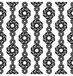 Elaborate black and white vertical pattern from vector