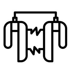 External heart defibrillator icon outline style vector
