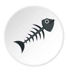 fish bone icon circle vector image