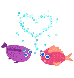 fish love vector image