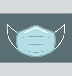 flu protection face mask front view vector image