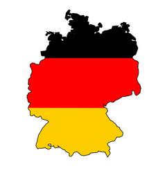 German flag map vector