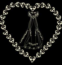 gold wedding dress in the loop vector image