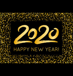 golden luxury 2020 happy new year with shining vector image