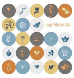 Happy Valentines Day Icons vector