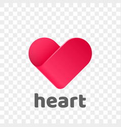 heart logo modern abstract flat app icon vector image