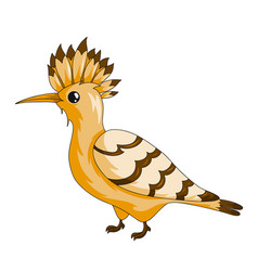 Hoopoe bird icon vector