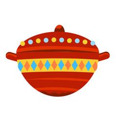 jesus birth gift bowl icon cartoon style vector image