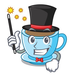 Magician milk tea isolated with the mascot vector